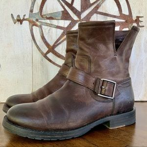 FRYE Natalie Short Brown Leather Boots. 7.5